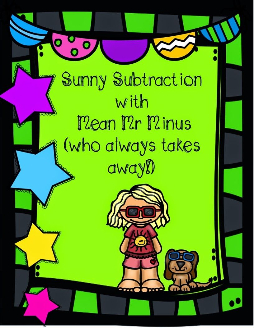 Miss Bee\'s Hive: Sunny Subtraction (with Mean Mister Minus) | TpT ...
