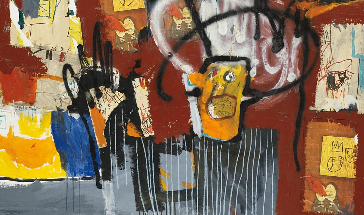 Jean-Michel Basquiat (1960-1988) Untitled, 1981 acrylic, spray paint, oilstick and Xerox collage on canvas 122.5 x 152.5 cm