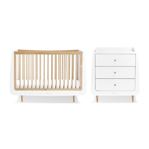 Snuz Skandi Cot Bed 2 Piece Nursery Furniture Set Baby