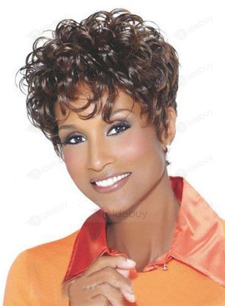 Top Quality Natural Short Curly Hair Wig 6 Inches