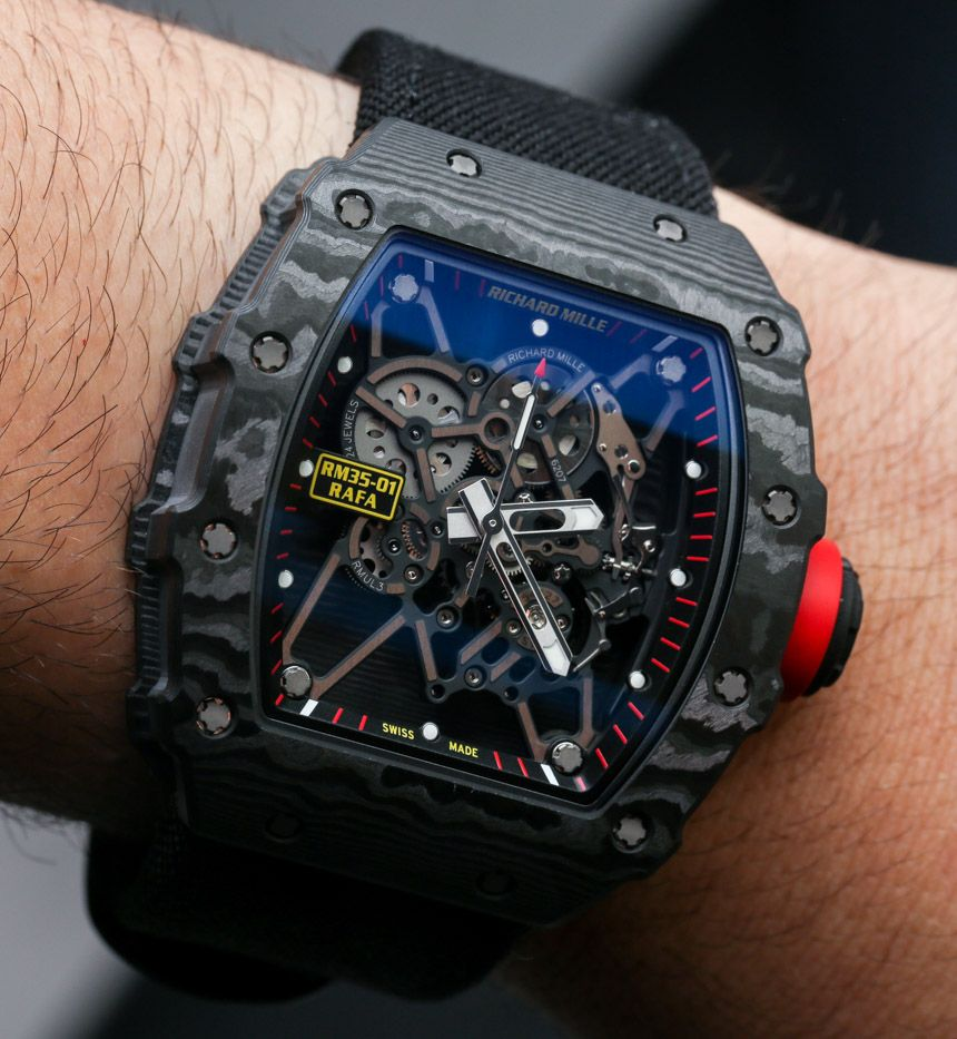 0b4bd2846e Richard Mille RM 35-01 Rafael Nadal NTPT Carbon Watch Hands-On Hands ...