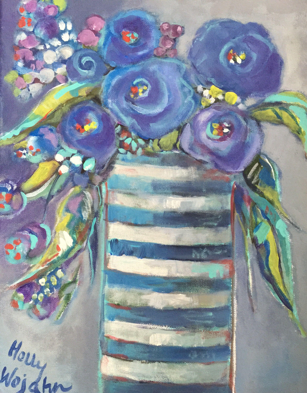 Les Fleurs, Bleu