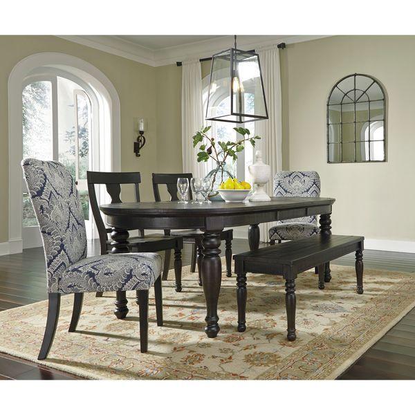 Signature Designashley Sharlowe Charcoal Dining Room Set Adorable Charcoal Dining Room Decorating Inspiration