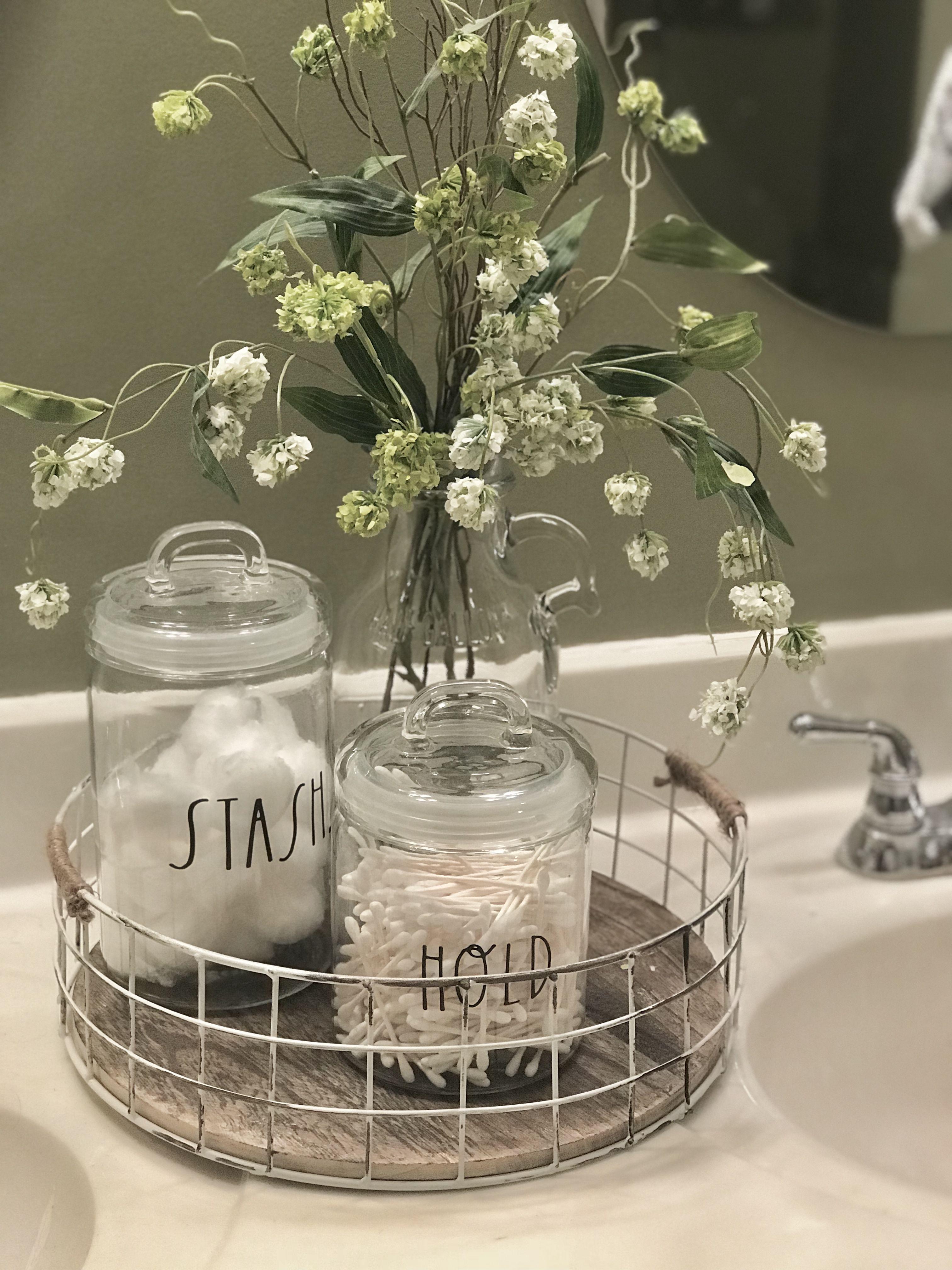Rae Dunn Glass Magnolia Home Decor Home Decor Bathroom Staging
