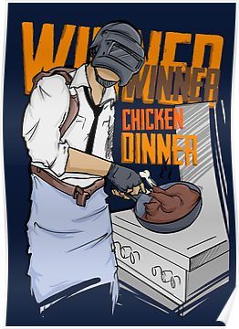 PUBG - Winner, Winner Chicken Dinner Merchandise Poster