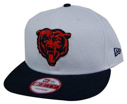 NFL Chicago Bears White Top Snapback Cap 8b011827f741