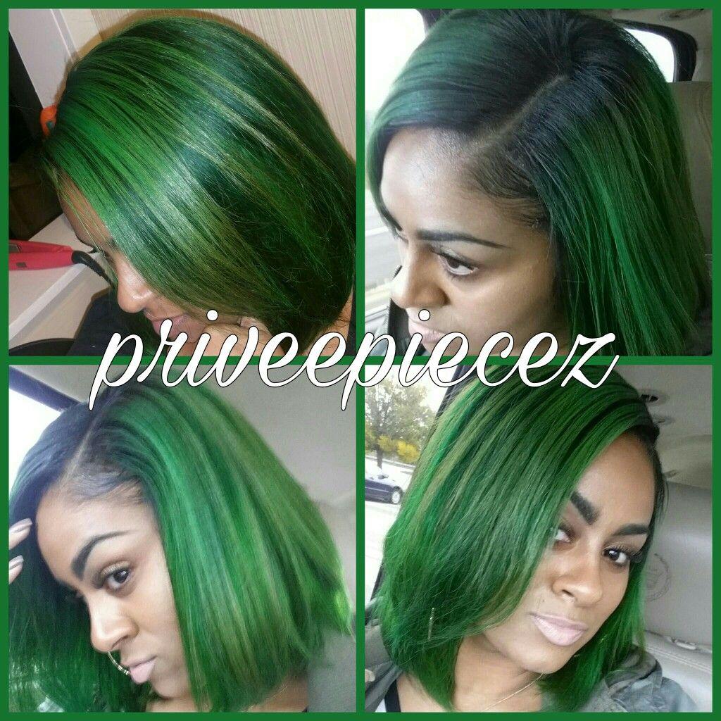 Forest Green hair color by Adore #greenhair #hair #bob # ...