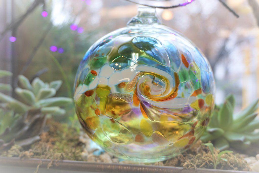 Color wave ornament kitras glass art multi color