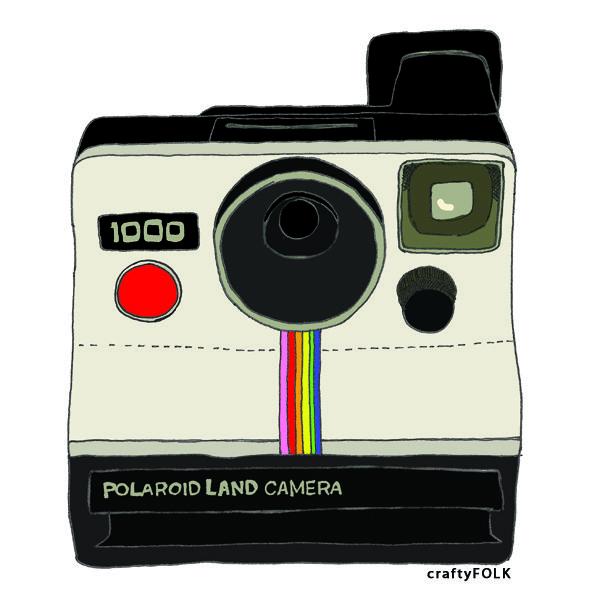 line drawing polaroid land camera | New Illustration ...