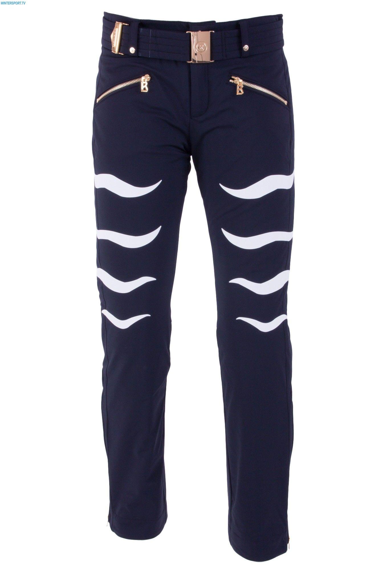 womens fitted ski pants black