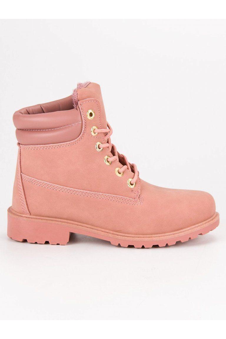 2998b3cf66 Ružové topánky na zimu trapery CnB