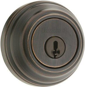 "BRZ DBL Cyl Deadbolt by Kwikset. $54.99. Ultra Maximum Signature Series, Venetian Bronze Finish, Double Cylinder Deadbolt, Grade 1, Round Corner Adjustable Latch Fits 2-3/8"" & 2-3/4"" Backsets, Titanium Roll Pin, Anti-Pick Tumblers, Ball Bearings To Prevent Drill Out, Concealed Screws, Keyed Alike In Sets Of 6, Lifetime Mechanical Warranty, Lifetime Finish Warranty, Clear Pack."