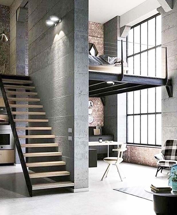 Awesomely Stylish Urban Living Rooms: Stylish Urban Life // Living Room // City Loft // Urban