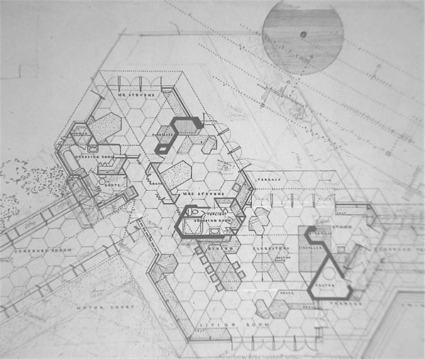 Auldbr Plantation South Carolina Frank Lloyd Wright Floor Plan Open To The Public 1 Time Every 2 Years Looking Forward Touring It Today