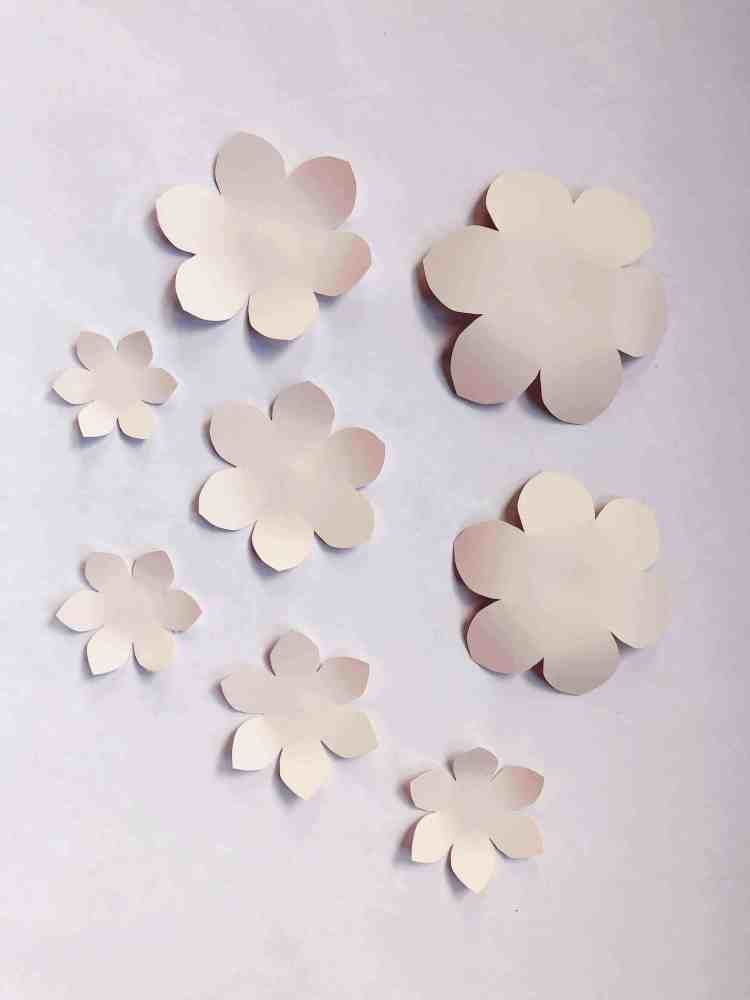 Diy Paper Camellia With Free Flower Template Rolled Paper