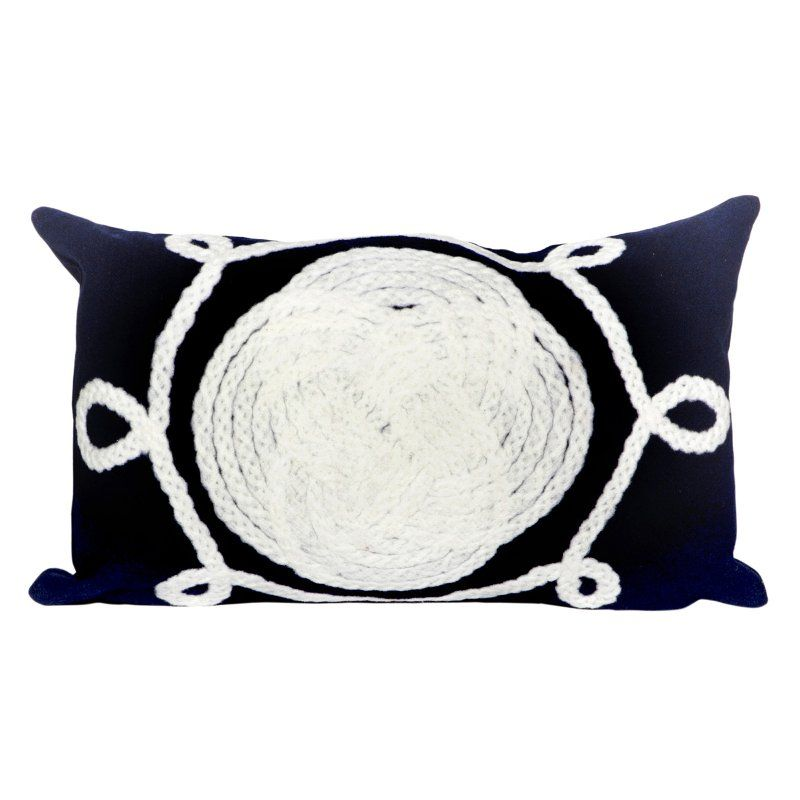 Visions Ii Liora Manne Ornamental Knot Indoor Outdoor Pillow