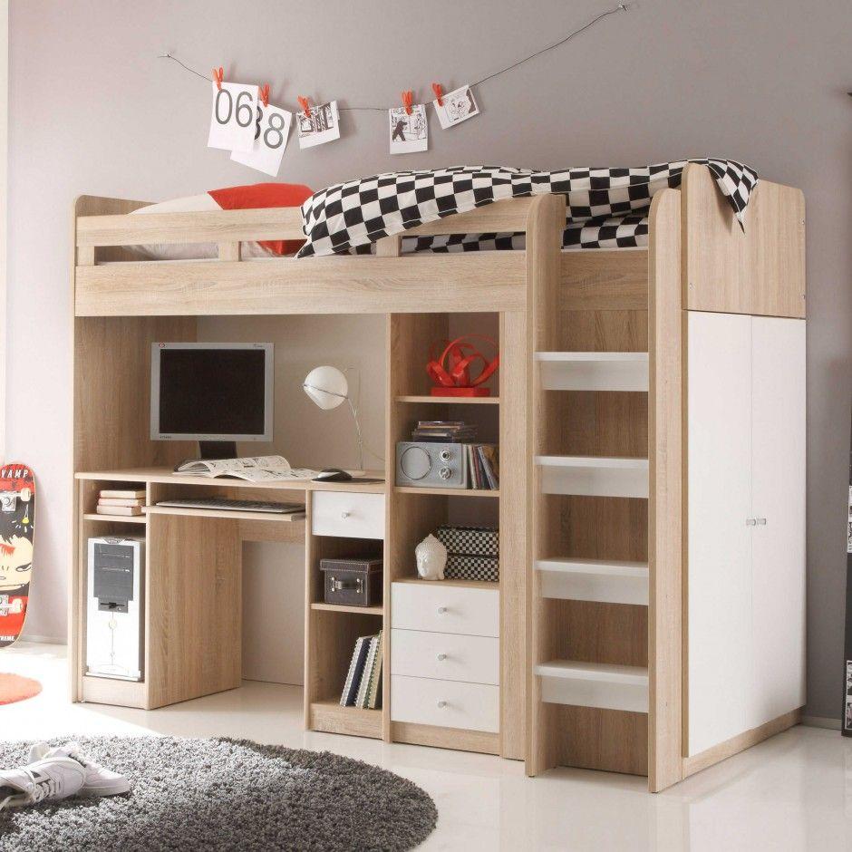 Hochbett Unit 90 x 200 cm - Jugend- & Kinderbetten - Jugend ...