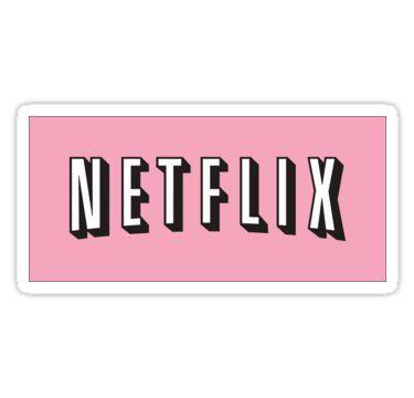 Pink Netflix Logo Sticker | Youtube logo, Snapchat logo ...
