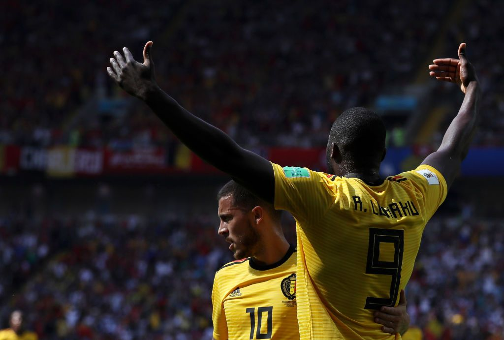 Soccer  Man Uniteds Romelu Lukaku is finally praised by Eden Hazard -      Belgium 5  Tunisia 2  Belgium are through to the last-16 of the World Cup.  Thats after the Belgians beat Tunisia 5-2 on Saturday.  Belgium opened their World Cup campaign with a 3-0 win over Panama. Theyve now followed that up with a 5-2 win over the north Africans.  Chelseas Eden Hazard and Man Uniteds Romelu Lukaku both scored braces in the Tunisia win.Michy Batshuayi scored the fifth goal.  Romelu Lukaku & Eden Hazard  Romelu Lukaku now has four goals at the World Cup.  The Man United striker leads the scoring charts along with Portugals Cristiano Ronaldo.  WillLukaku win the World Cup Golden Boot?  Leaving that issue to one side it was noticeable how Chelseas Hazard talked about Lukaku after the Tunisia game.  Earlier in the tournament after the Panama game Hazard accused Lukaku of hiding.  However there was no hit of criticism after the Tunisia game as Hazard waxed lyrical about the Man United forward:  Its easy to play with a player like him. You pass the ball when hes in front of you and he scores every time.  He had a fantastic game and scored two goals  thats what you want.  WillLukaku face England?  But it wasnt all good news forLukaku on Saturday.  The Man United striker is a major injury doubt to face England in the final group game.  Lukaku was subbed out the game with an ankle injury. Its unclear whether the striker will recover for Thursdays match.  Romelu Lukaku possibly suffered external ligament damage on his left foot according to Bobby M. Not his right ankle  the one that kept him out at the end of the season. #mufc #bel pic.twitter.com/Nt519JHJNG   Kristof Terreur  (@HLNinEngeland) June 23 2018  Also see:Antonella Roccuzzo celebrates Leo Messis 31st birthday.  Javier Mascherano talks about his fight with Cristian Pavon after Croatia.  Click here for more World Cup betting tips  Related Posts:  Soccer  Worry for Belgium ahead of England  Soccer  Eden Hazard doubles down o