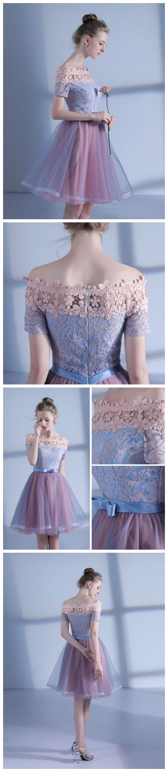 Charming homecoming dresses short aline offtheshoulder tulle