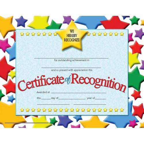 Certificate Of Recognition Reward Your Students For Their Special