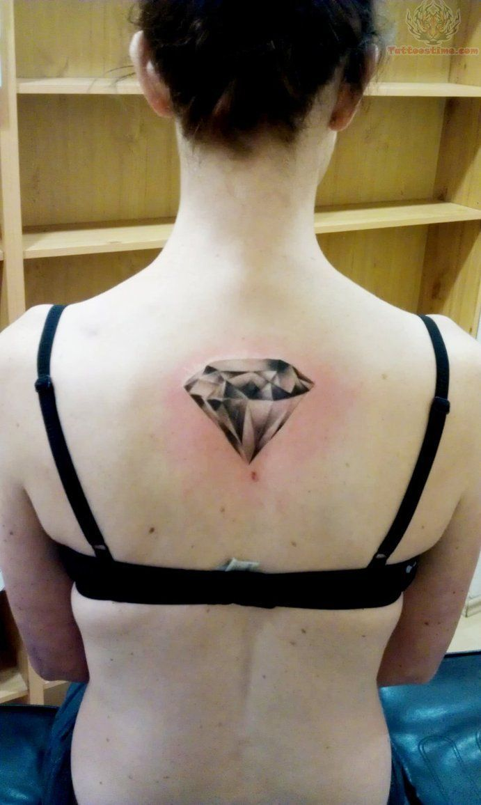 crystal diamond tattoo on girl back tattoos tattoos picture diamond tattoo simple tattoos. Black Bedroom Furniture Sets. Home Design Ideas