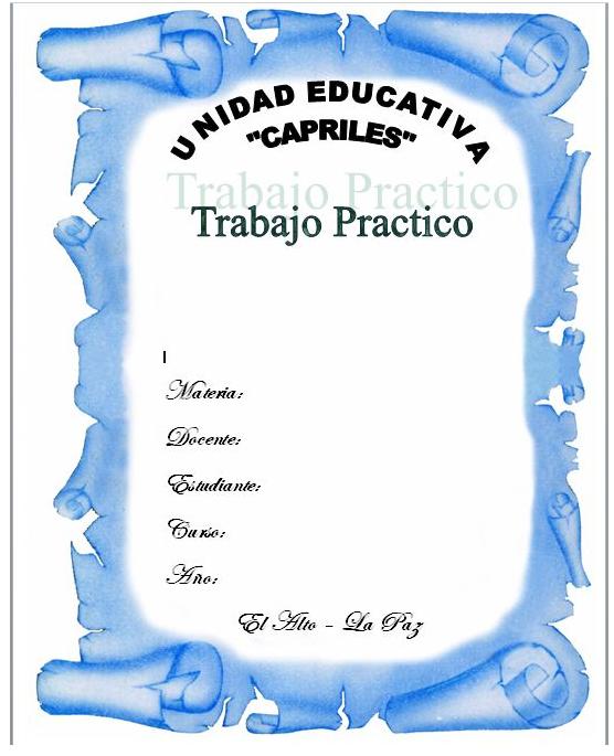 Caratulas para universidad en word - Imagui … … | Pinteres…