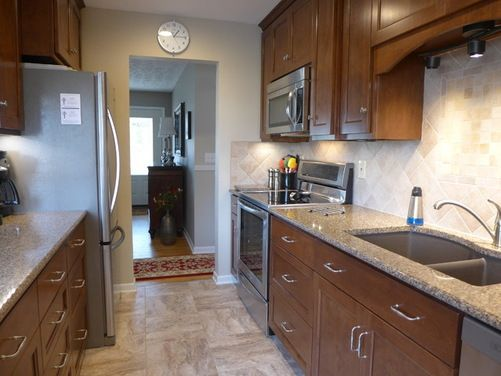 1960 39 S Small Galley Kitchen Remodeled Before And After Houzz Ranch Homes Pinterest