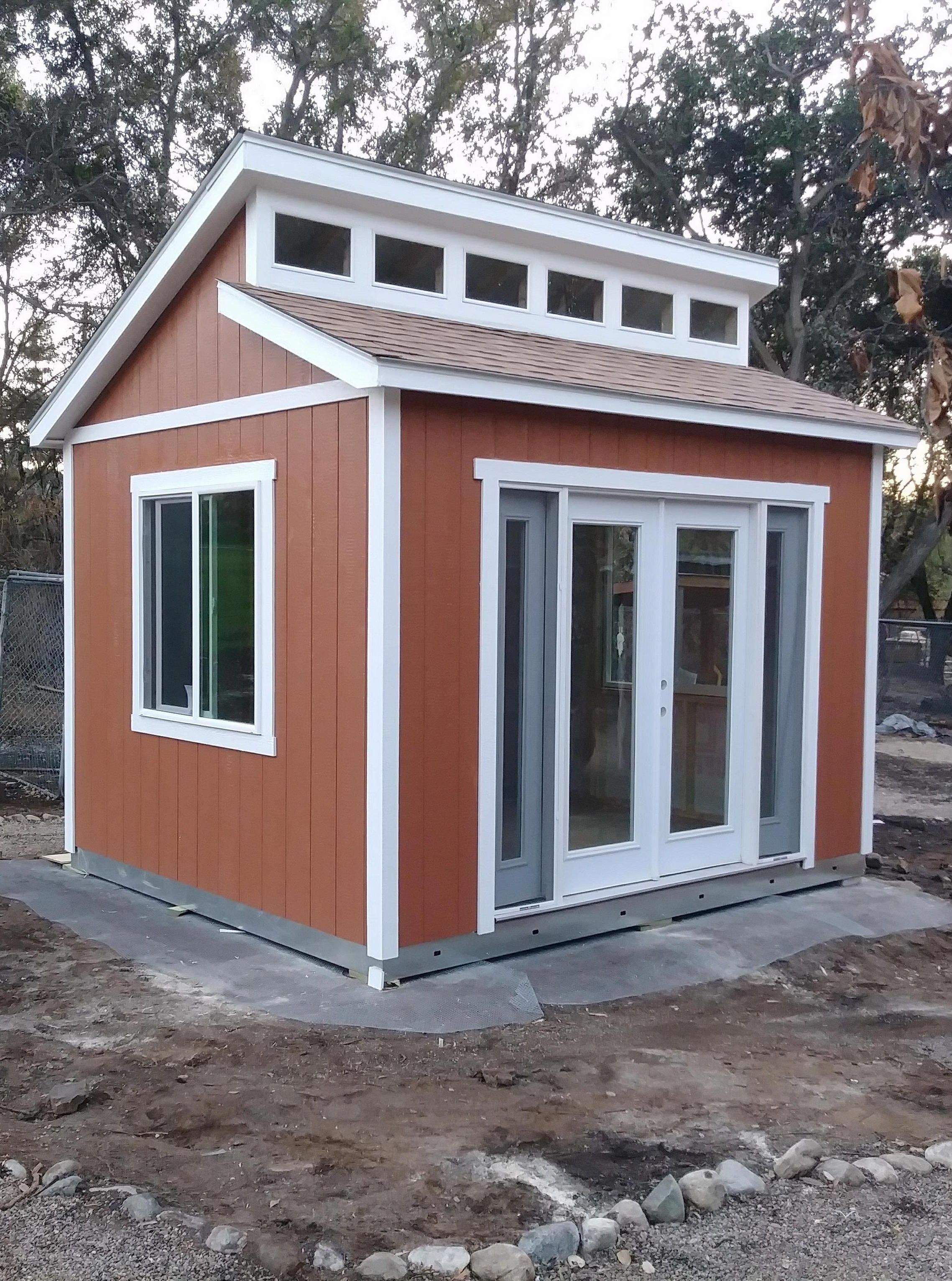 Modern Bright Full Of Space Our Clerestory Roof Option Adds Plenty Of Natural Light And Modern Style To Your Bu Building A Shed Shed Design Small Shed Plans