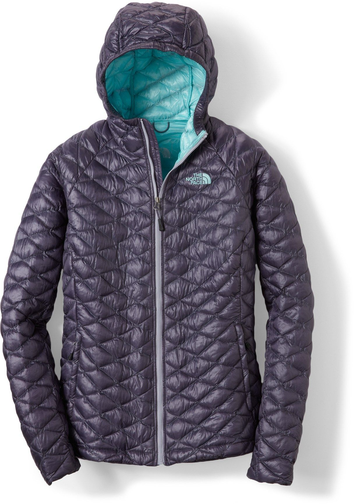 518696a686f9 The North Face ThermoBall Hoodie Jacket - Women s - Free Shipping at  REI.com - greystone blue   sports chalet