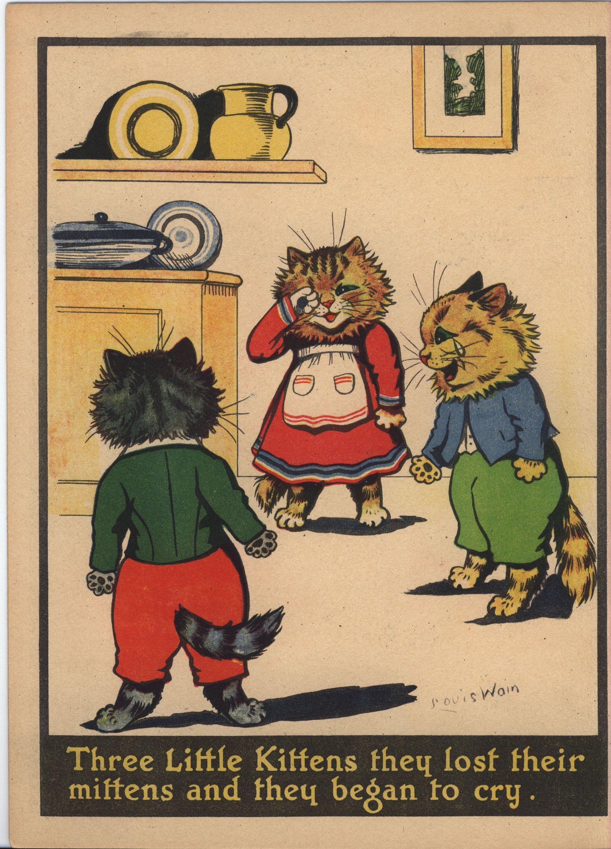 Louis Wain Three Little Kittens Painting Book Cats
