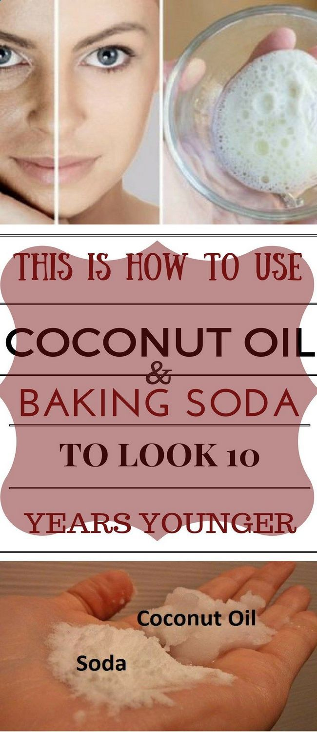This Is How To Use Coconut Oil And Baking Soda To Look 10 Years Younger -   18 makeup Beauty remedies ideas