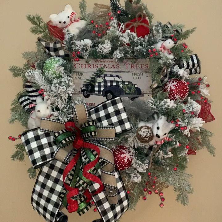 Photo of Beautiful Buffalo Plaid Wreath