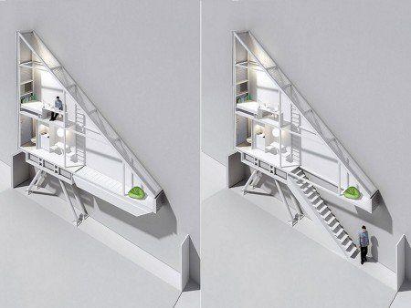 casa_keret  14m², betwen 2 building