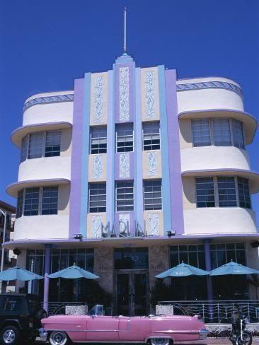 'Art Deco Area, Miami Beach, Florida, United States of America (U.S.A.), North America' Photographic Print - Robert Harding | Art.com