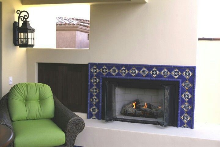 Talavera Tiled Fireplace In 2019 Decor Frame Tiles