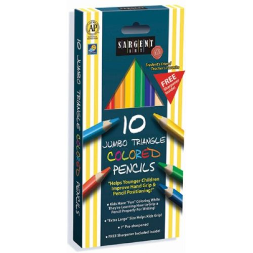 6mm Easy Grip Triangle Colored Pencil Pack Sargent Art Colored