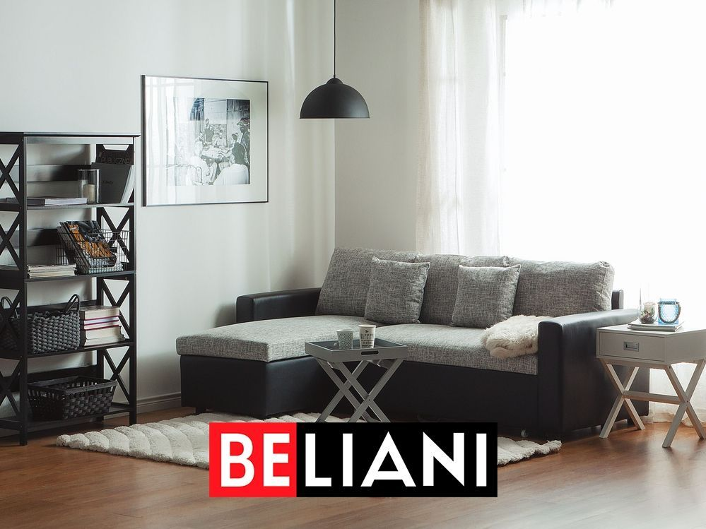 Gemutliches Schlafsofa Mit Recamiere In Grau In 2020 Grey Sofa Bed Sofa Bed Sofa