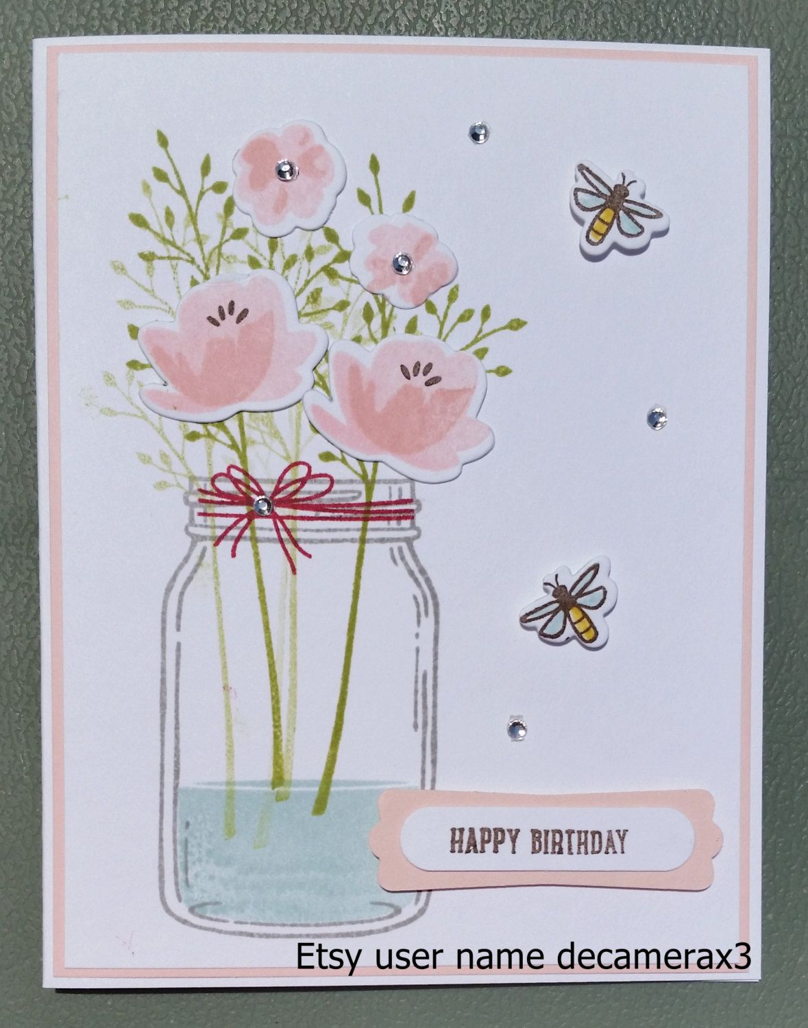 Handmade Thank You, Get Well, Happy Birthday Card Kit, STAMPIN' UP! Jar Of Love by decamerax3 on Etsy