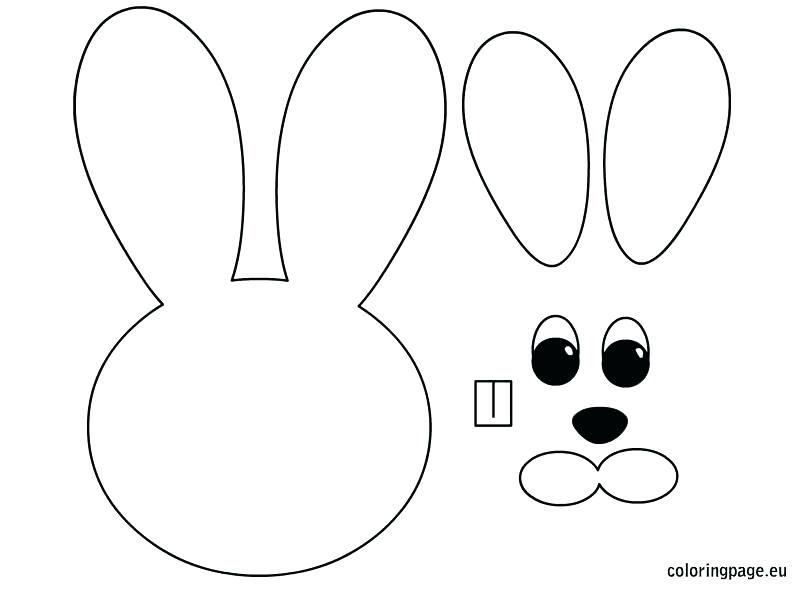 Resultado De Imagen Bunny Head With Ears Coloring Page