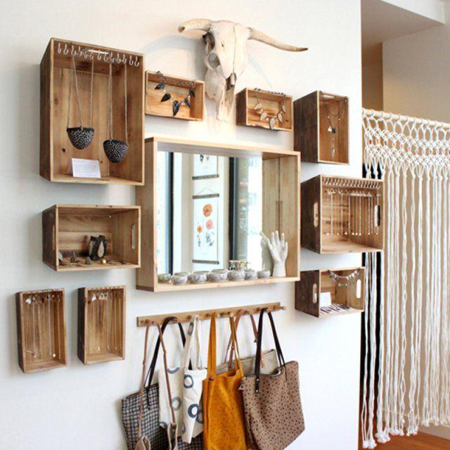 DIY déco  19 manières de (ré)utiliser les caisses en bois