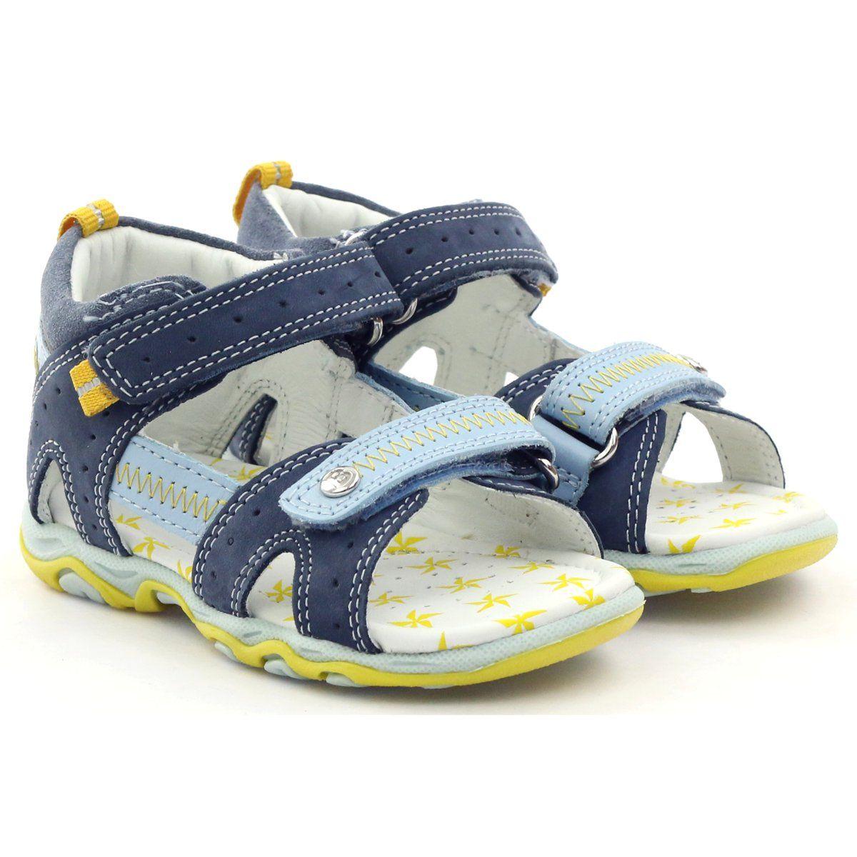 Sandalki Chlopiece Rzepy Bartek Niebieskie Zolte Baby Boy Fashion Baby Shoes Boy Fashion