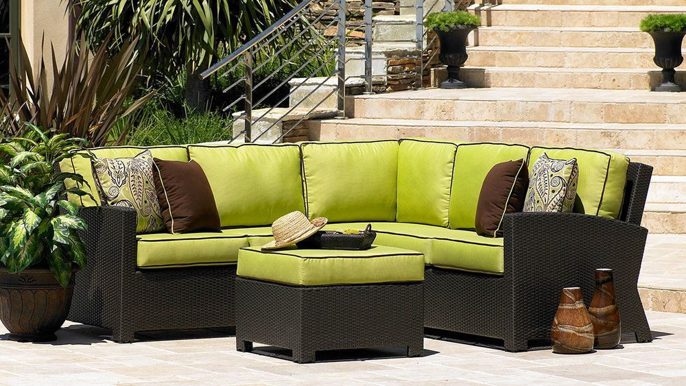 lime green patio furniture outdoor sofa