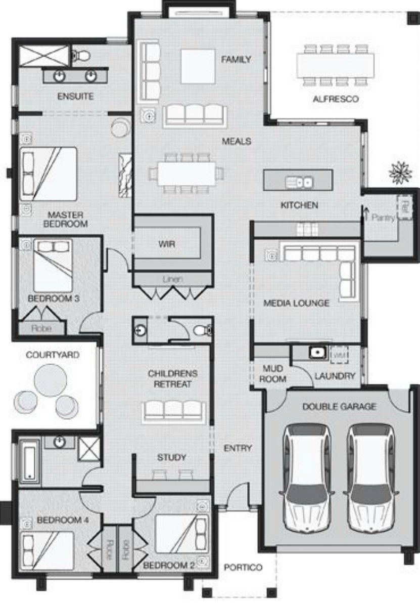 Master bedroom ensuite plans  Layout family room windows  plan  Pinterest  Layouts Window and Room