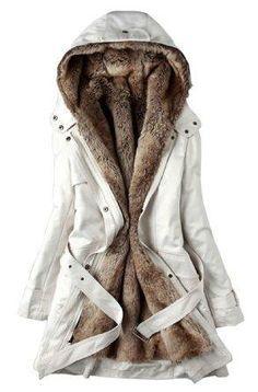 SGG Warm Hooded Faux Fur Ling Winter Coat Long Jacket Parka Women ...