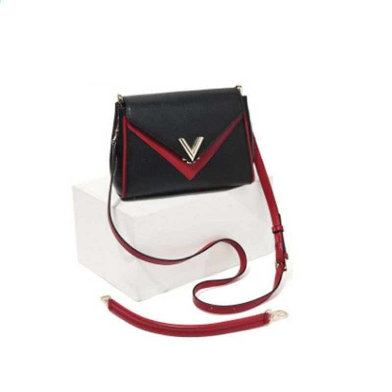 0cd672844ebd 100% Italiaanse lederen tas dame stiksels pakket V woord decoratie nep  designer tassen lederen tassen voor vrouwen canta blosa