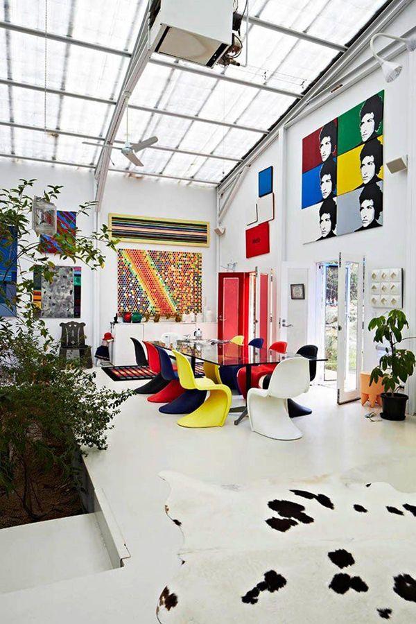 House Tour A Pop Art Inspired Atrium Home Coco Kelley Interior Design Art Pop Art Decor Best Home Interior Design