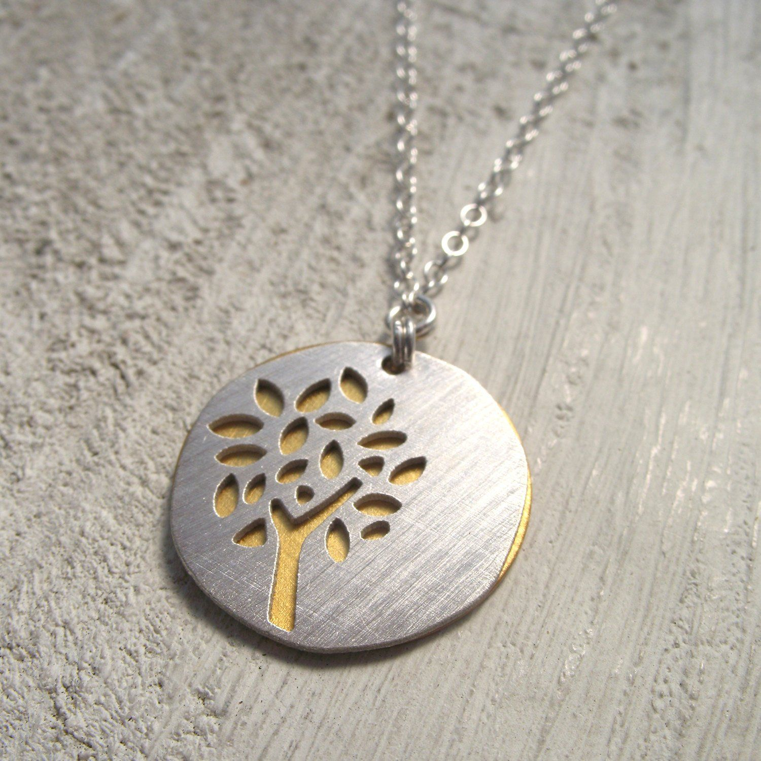 Wood and Silver Necklace West Coast Jewelry Wood Necklace Spruce Tree Mountian Jewelry Sitka Tree Tree Necklace Wooden Tree Pendant