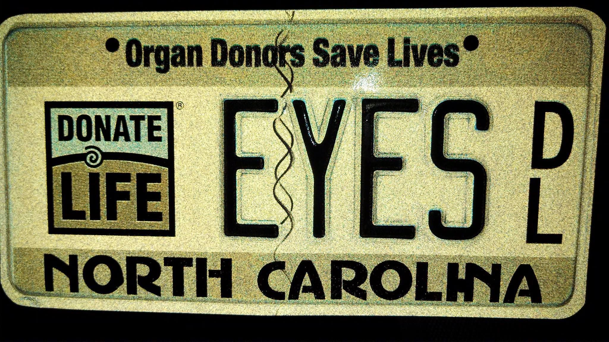 Check out this great personalized #DonateLife license plate
