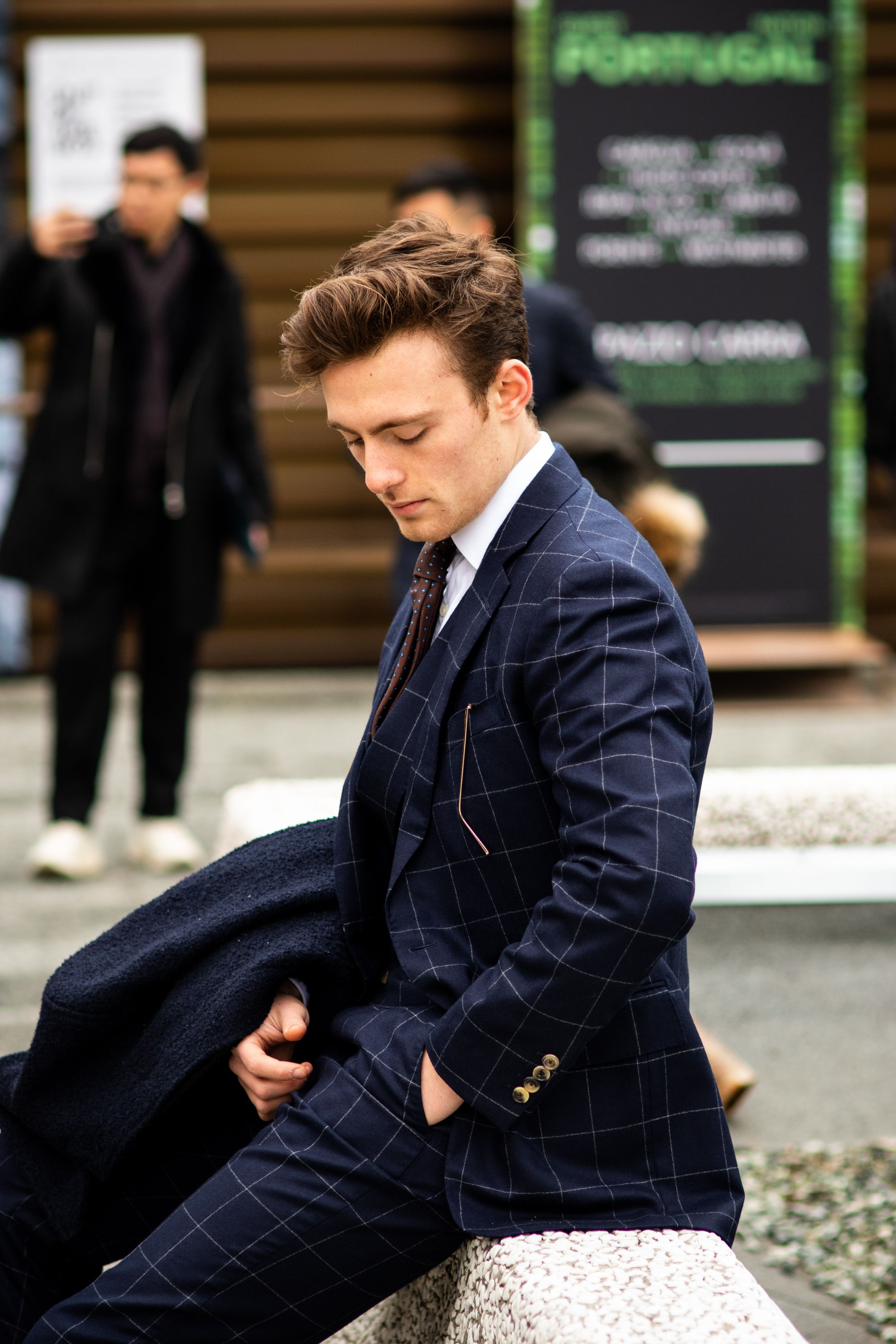 490ad591f01 Bespoke suits and separates from Savile Row tailor Cad & The Dandy, at  Pitti Uomo 95. Buy bespoke suits and separates from Cad & The Dandy in  London, New ...